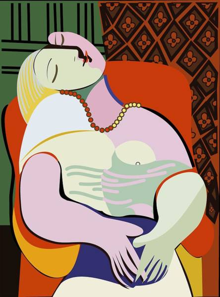 Wall Art - Painting - Picasso's Dream Like Art Painting by ArtMarketJapan