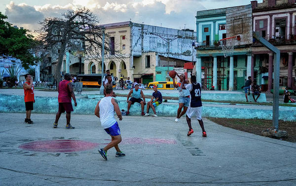 Photograph - Pick Up Basketball by Tom Singleton