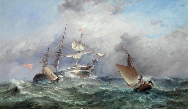 Wall Art - Painting - Picking Up A Pilot by James Harris of Swansea