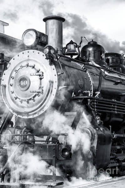Photograph - Picking Up Steam At The New Hope And Ivyland Railroad 2012 by John Rizzuto