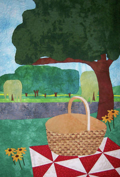 Tapestry - Textile - Picnic At Ellis Pond by Pam Geisel