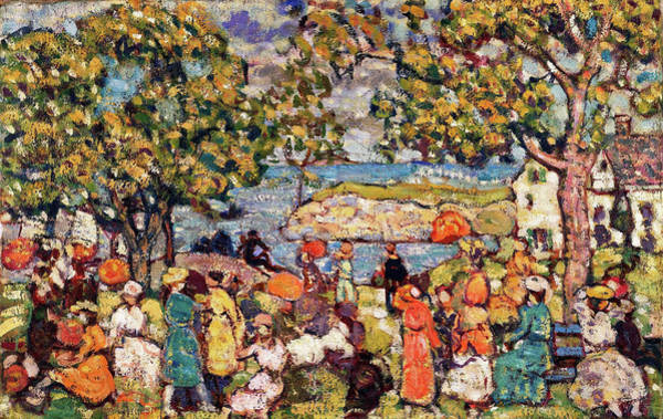 Wall Art - Painting - Picnic - Digital Remastered Edition by Maurice Brazil Prendergast