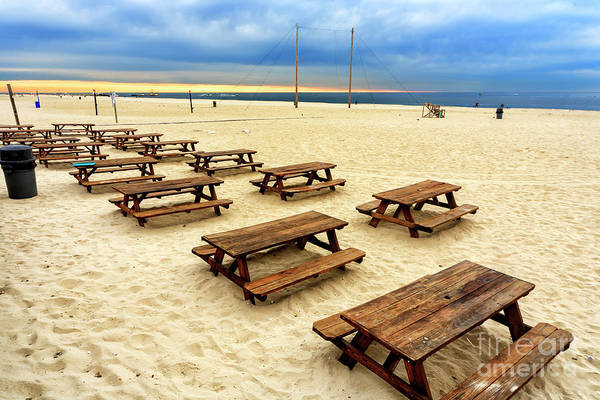 Point Pleasant Photograph - Picnic Tables At Point Pleasant Beach by John Rizzuto