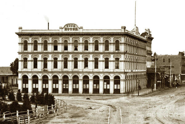 Photograph - Pico House And  Plaza 430 N. Main Street-across From Olvera Street by California Views Archives Mr Pat Hathaway Archives