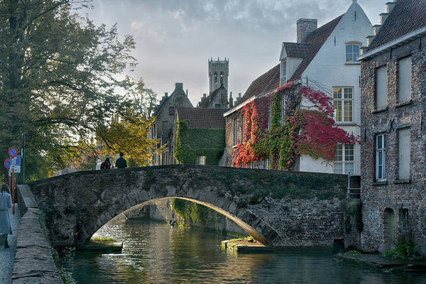 City Centre Photograph - pictorial Bruges by Joachim G Pinkawa
