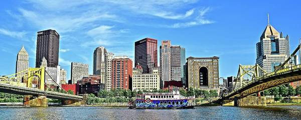Wall Art - Photograph - Picture Perfect Pittsburgh Pa Panorama  by Frozen in Time Fine Art Photography