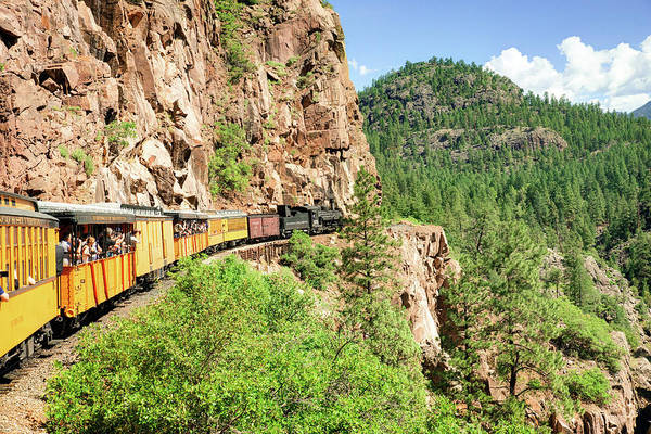 Photograph - Picture Perfect Ride On The Durango Silverton Railroad by Gregory Ballos