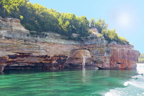 Photograph - Pictured Rocks #1 - Sea Arch Green Water by Patti Deters