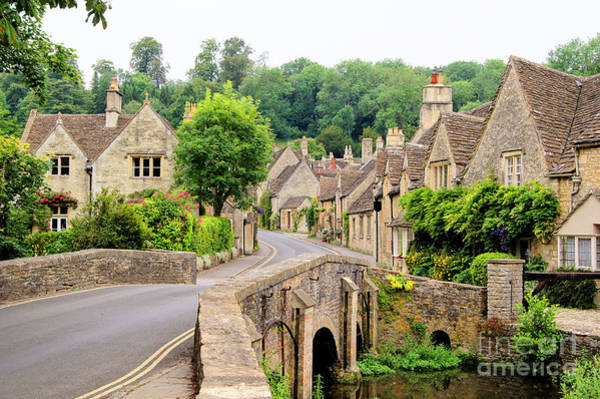 Wall Art - Photograph - Picturesque Cotswold Village Of Castle by Jenifoto