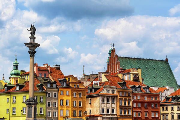Tenement Photograph - Picturesque Old Town Of Warsaw In Poland by Artur Bogacki