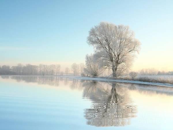 Beautiful Sunrise Photograph - Picturesque Winter Landscape Of Frozen by Paul Aniszewski