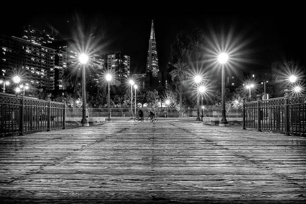 Photograph - Pier 7 In Black And White by Kristen Wilkinson