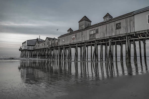 Orchard Beach Photograph - Pier At Dawn In Maine by Betsy Knapp