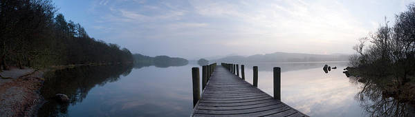 Wall Art - Photograph - Pier At Lake, Coniston Water, English by Panoramic Images