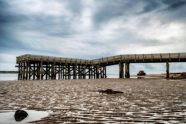 Photograph - Pier At Low Tide by Dee Browning