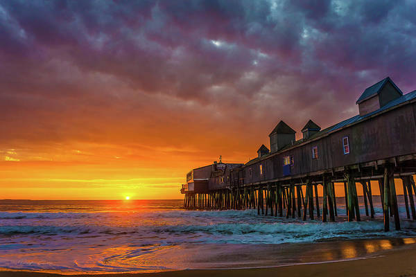 Orchard Beach Photograph - Pier Into The Sun by Douglas Curtis Photography