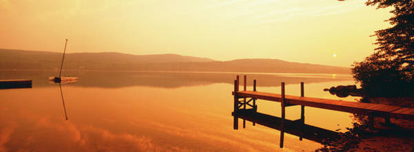 Wall Art - Photograph - Pier On A Lake, Lake Pleasant by Panoramic Images