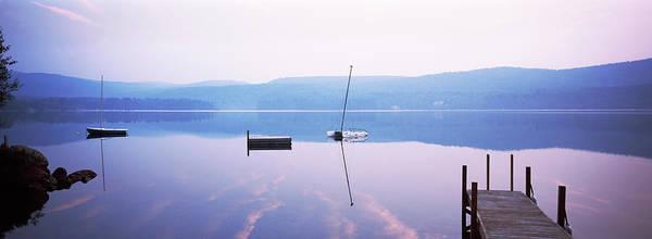 Wall Art - Photograph - Pier On A Lake, Pleasant Lake by Panoramic Images