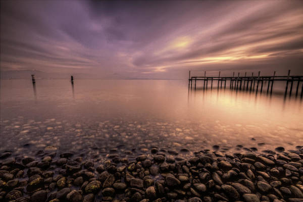 Lake Geneva Wall Art - Photograph - Pier On Lake by Philippe Saire - Photography