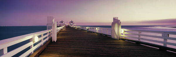 Wall Art - Photograph - Pier Over Sea At Sunset, Malibu Pier by Panoramic Images