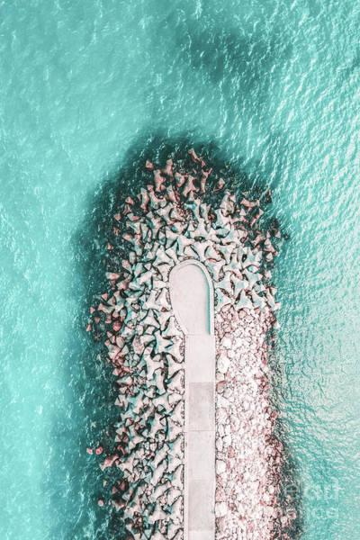 Wall Art - Photograph - Pier Print, Aerial Photography, Beach Print, Ocean Print, Aerial Beach Photography, Art Print, Coast by Radu Bercan