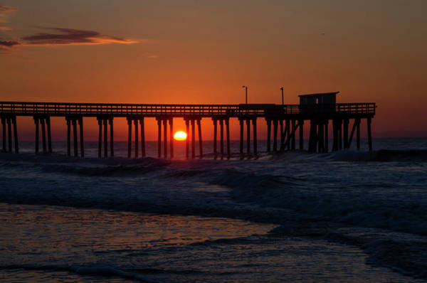 Photograph - Pier Sunrise In Avalon New Jersey by Bill Cannon