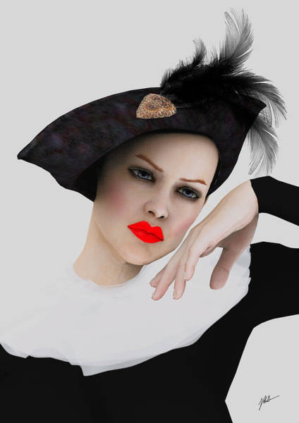 Wall Art - Digital Art - Pierrette De Vogue by Joaquin Abella