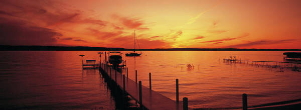 Wall Art - Photograph - Piers On The Bay, Old Mission by Panoramic Images