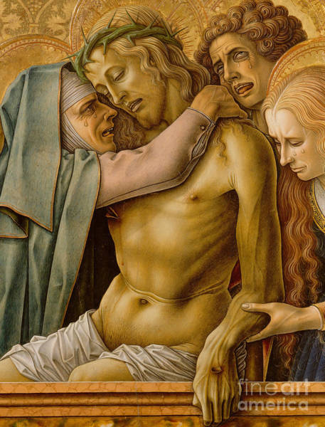 Wall Art - Painting - Pieta, 1476 by Carlo Crivelli