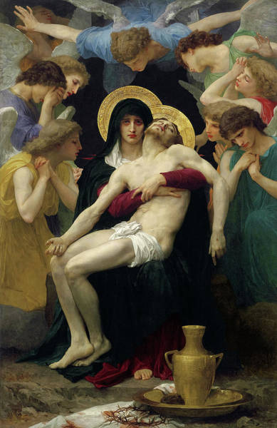Wall Art - Painting - Pieta, 1876 by William-Adolphe Bouguereau