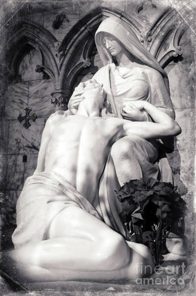 Photograph - Pieta At St. Patrick's Cathedral In New York City by John Rizzuto