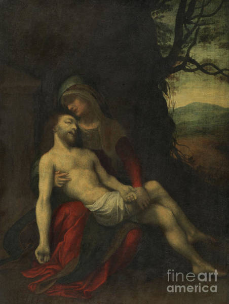 Wall Art - Painting - Pieta By Correggio by Correggio