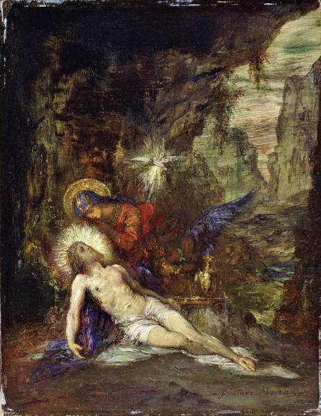 Wall Art - Painting - Pieta - Digital Remastered Edition by Gustave Moreau