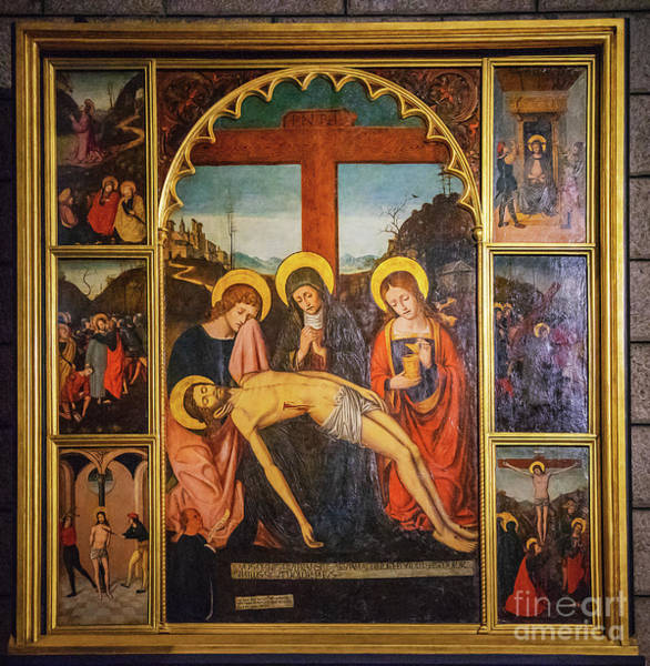 Wall Art - Photograph - Pieta Of The Parish Priest Antoine Teste Ludovico Brea by Wayne Moran