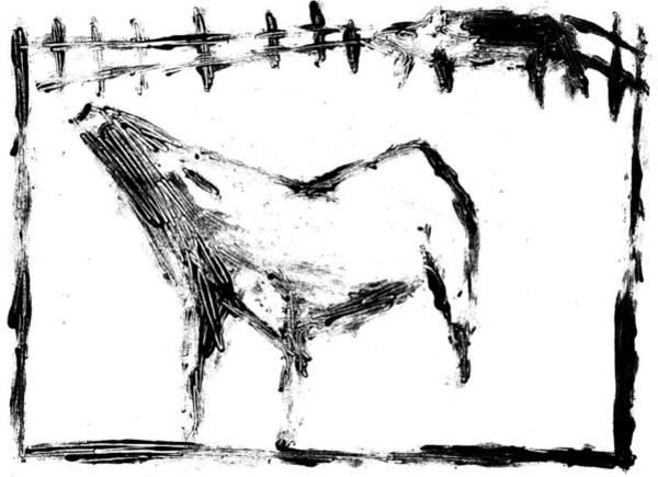 Digital Art - Pig In Farm Digitally Whitened Paper by Artist Dot