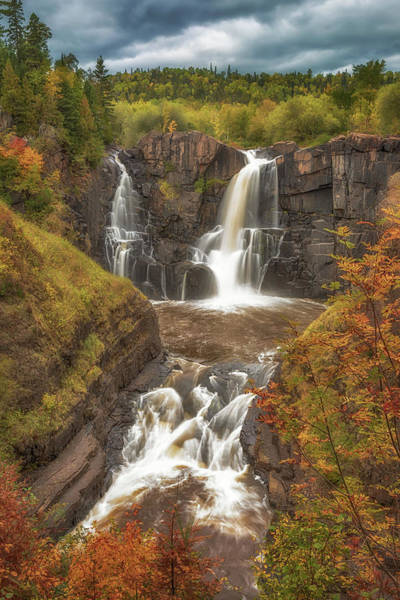 Photograph - Pigeon Falls In Autumn by Susan Rissi Tregoning