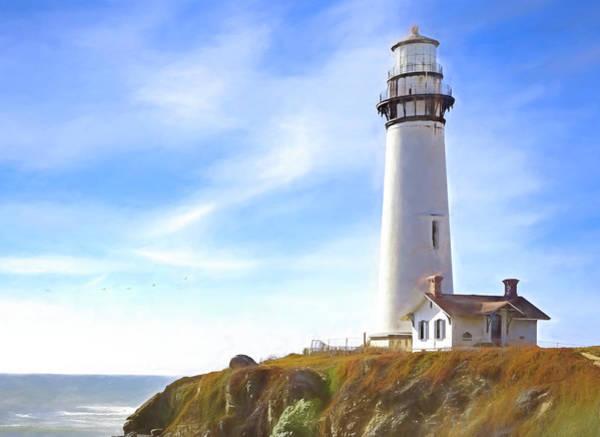 Pigeon Point Lighthouse Ca Art Print