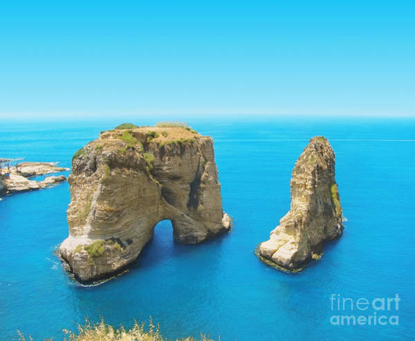 Wall Art - Photograph - Pigeon Rocks - Symbol Of Lebanon by Dimmitrius
