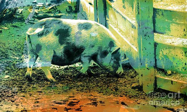 Wall Art - Digital Art - Piggy by Jutta Maria Pusl