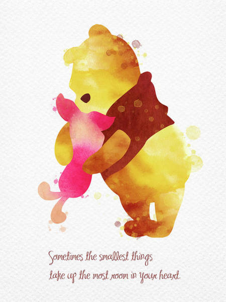 Wall Art - Digital Art - Piglet And Pooh Watercolor 2 by Mihaela Pater
