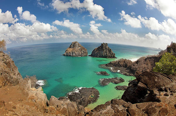 Fish Eye Lens Photograph - Pigs Bay In Fernando De Noronha by © Jackson Carvalho
