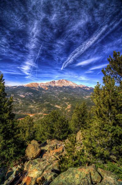Colorado Photograph - Pikes Peak And Blue Sky by Photo By Matt Payne Of Durango, Colorado