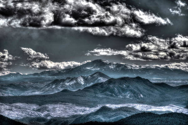 Photograph - Pikes Peak And Clouds by Matt Swinden