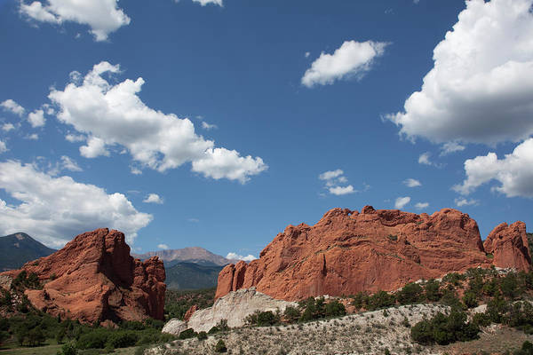 Pikes Place Photograph - Pikes Peak Clouds Garden Of The Gods by Milehightraveler