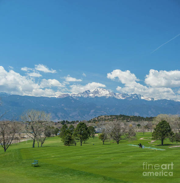 Photograph - Pikes Peak From The Fairway by Tony Baca