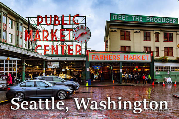 Photograph - Pikes Place Public Market Center Seattle Washington by G Matthew Laughton