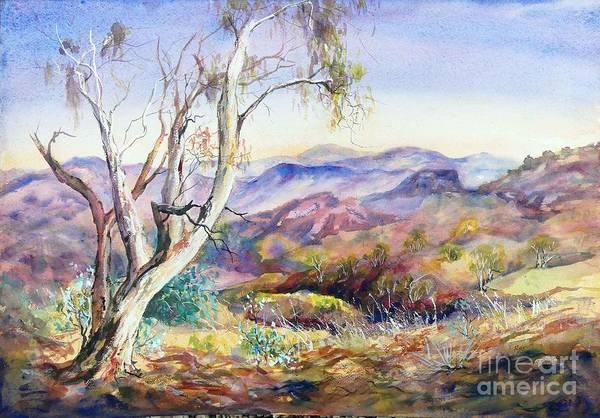 Painting - Pilbara, Hamersley Range, Western Australia. by Ryn Shell