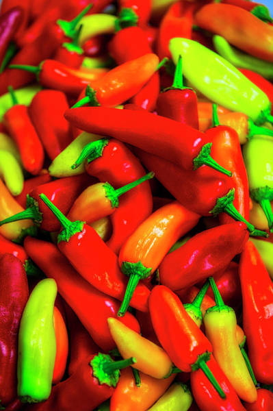Wall Art - Photograph - Pile Of Chilli Peppers by Garry Gay