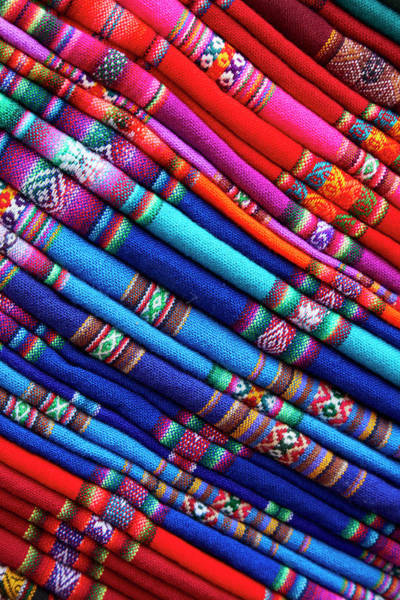 Senora Photograph - Piles Of Colorful Cloth For Sale by David Wall