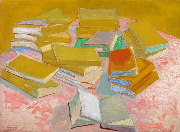 Wall Art - Painting - Piles Of French Novels - Digital Remastered Edition by Vincent van Gogh
